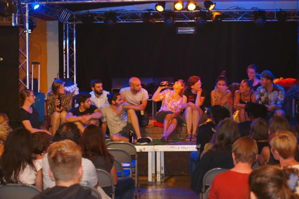 Foto von der Diskussion