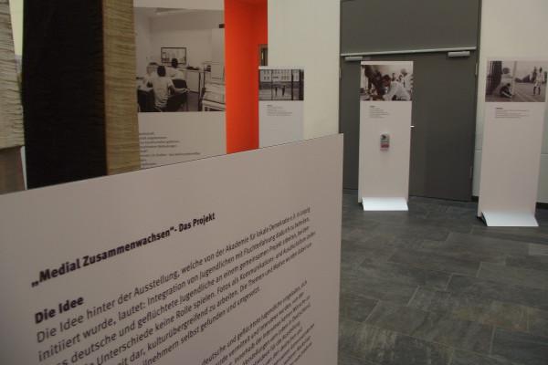 Foto von der aufgebauten Ausstellung
